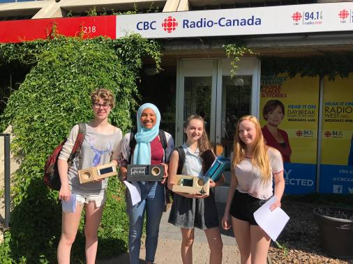 Kamloops Steminists At CBC Kamloops